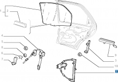 Elevalunas eléctrico trasero derecho para Fiat Palio
