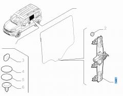 Elevalunas eléctrico trasero izquierdo para Fiat y Fiat Professional
