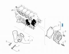 Bomba de agua con junta para Fiat Professional Scudo