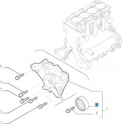Tensor de correa fijo para Alfa Romeo 159