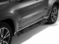 Estriberas negras plataformas laterales bajo carrocería para Jeep Grand Cherokee