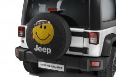 Funda para rueda de repuesto con smile