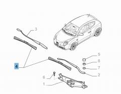 Kit de 2 escobillas para limpiaparabrisas delanteras para Alfa Romeo Mito