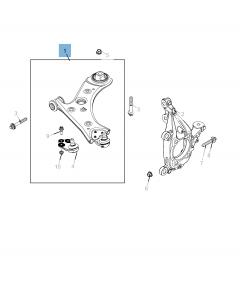 Brazo oscilante para suspensión inferior para Jeep Compass