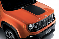 Adhesivo para capó en negro mate para Jeep Renegade
