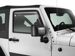 Deflectores de aire tintados para ventanillas delanteras