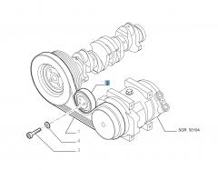 Tensor de correa fijo para Fiat Professional Ducato