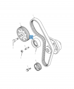 Kit de distribución (correa, tensor de correa fijo y regulable) - 3 piezas para Jeep Compass