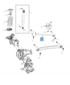 Brazo oscilante para suspensión delantera superior para Jeep Wrangler