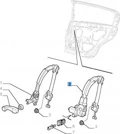Elevalunas eléctrico trasero derecho para Alfa Romeo 147