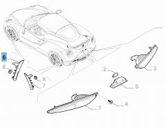Intermitente delantero lateral derecho para Alfa Romeo 4C