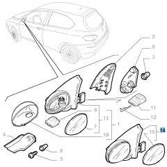 Espejo retrovisor exterior izquierdo para Alfa Romeo 147