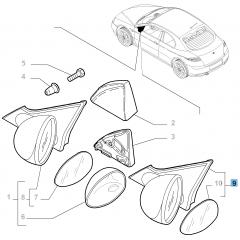 Espejo retrovisor exterior derecho para Alfa Romeo GT