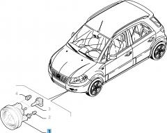 Luz antiniebla delantera izquierda para Fiat Sedici