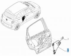 Elevalunas trasero derecho para Fiat 500L