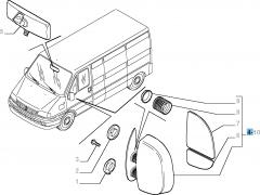 Espejo retrovisor exterior izquierdo para Fiat Professional Ducato
