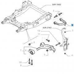 Brazo oscilante izquierdo para suspensión delantera superior para Alfa Romeo 159