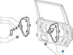 Elevalunas eléctrico trasero derecho para Fiat y Fiat Professional